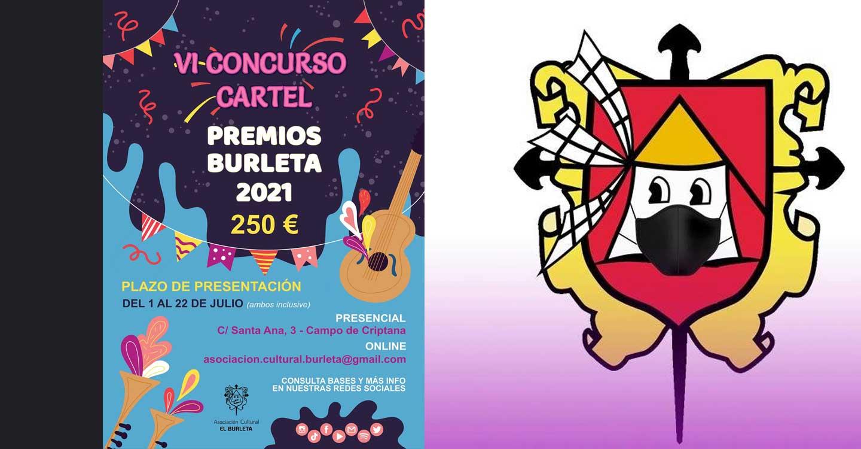 La Asociación Cultural El Burleta de Campo de Criptana convoca el VI Concurso del Cartel Anunciador de la XXIX Gala Premios Burleta 2021