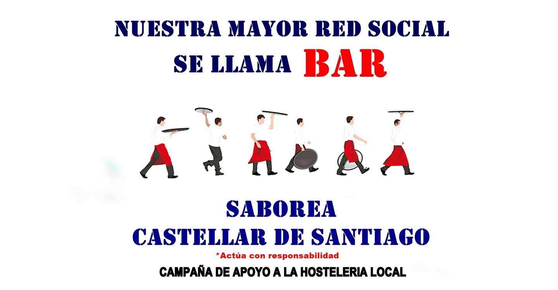 """El Ayuntamiento de Castellar de Santiago lanza una campaña de apoyo a la hostelería bajo el lema """"Nuestra mejor red social es el BAR"""""""