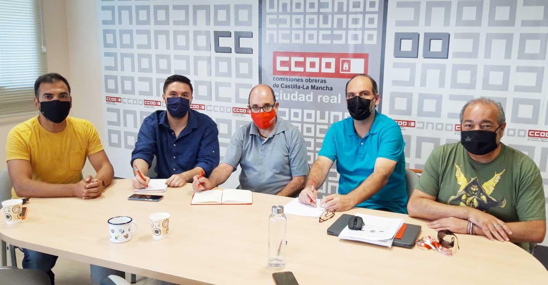 Las direcciones provinciales de CCOO y PCE en Ciudad Real se reúnen tras la celebración de sus procesos congresuales