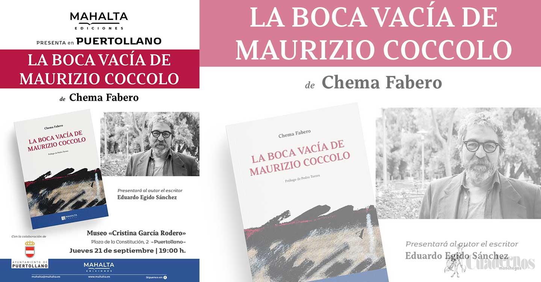 El novelista, dramaturgo y poeta Chema Fabero presenta en Puertollano su poemario 'La boca vacía de Maurizio Coccolo'
