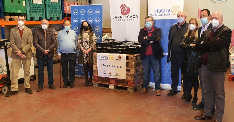 El Club Rotario de Ciudad Real elabora 500 menús con carne de caza para familias necesitadas