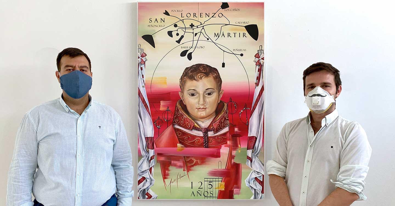 'La Cofradía de San Lorenzo Mártir patrón de San Lorenzo de Calatrava conmemora su 125 Aniversario fundacional con una obra del Artista Jesús Calzada.