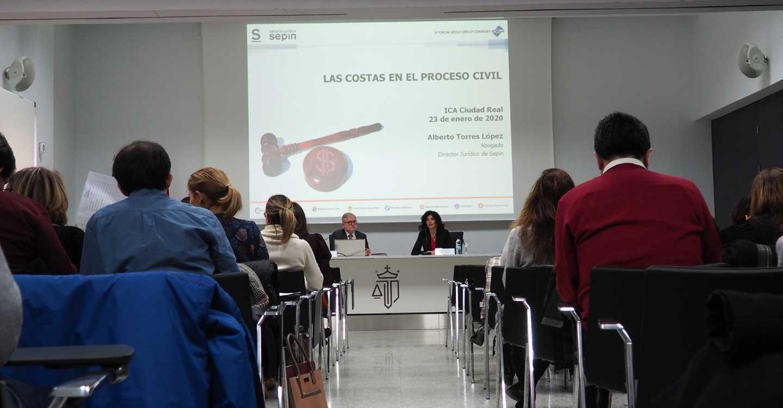 El Colegio de Abogados de Ciudad Real imparte una jornada sobre las costas en el proceso civil