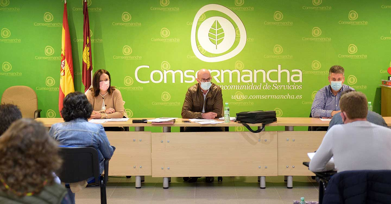 El Pleno de Comsermancha da el visto bueno a la partida para la mejora del sistema de control y acceso a la planta de RSU