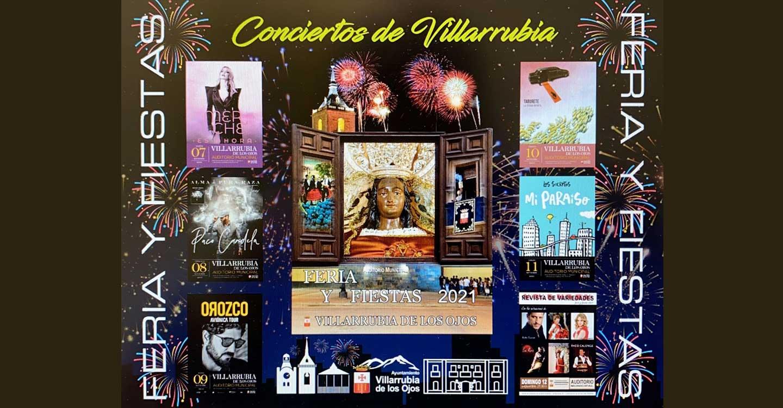 Antonio Orozco, Merche, Taburete y Los Secretos sonarán en los conciertos de la Feria y Fiestas de septiembre de Villarrubia de los Ojos
