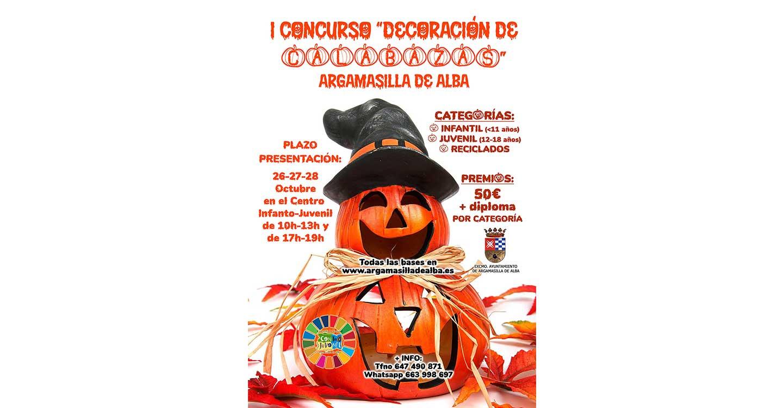 Primer concurso de decoración de calabazas en Argamasilla de Alba