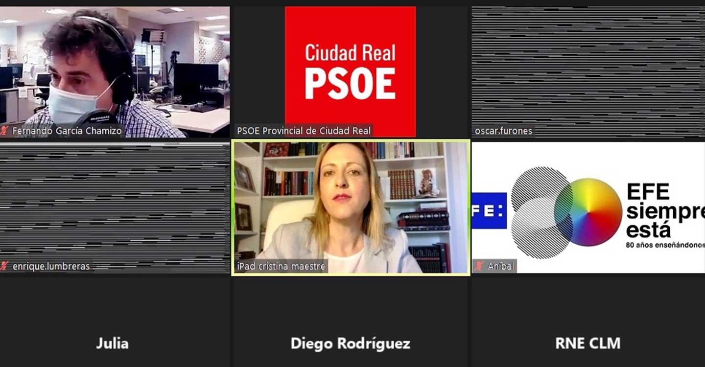 """Cristina Maestre pide al PP que """"no provoque un tapón en los fondos europeos que necesita España, cuando Europa tiene voluntad de ayudarnos"""""""