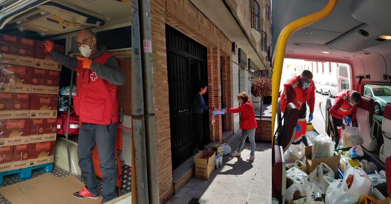 Cruz Roja triplica su intervención prevista inicialmente para hacer frente a la pandemia y atiende a más de 20.000 personas en la provincia