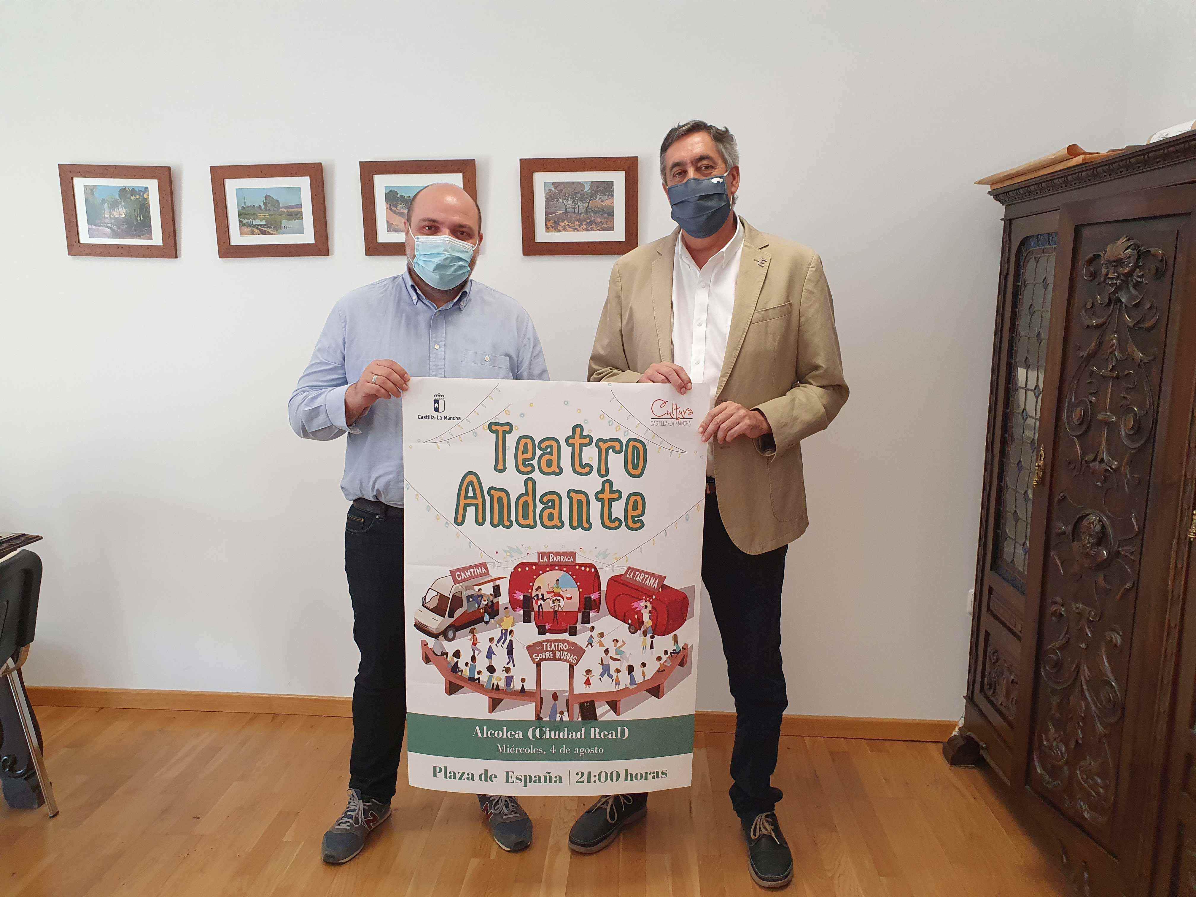 El Gobierno de Castilla-La Mancha acerca la cultura a la localidad de Alcolea de Calatrava gracias al proyecto 'Teatro Andante'
