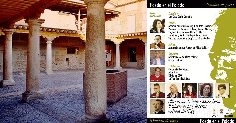 Lunes 22 de julio  X encuentro de Oretania  de Poetas en el palacio de Claveria de Aldea del Rey