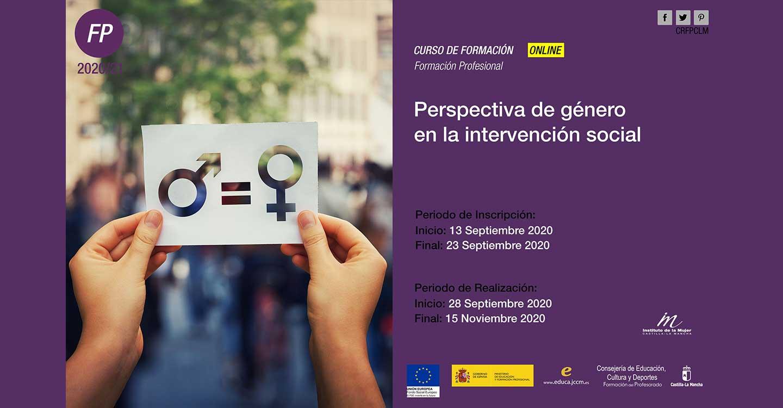 """Las delegaciones de las consejerías de Igualdad y Educación promueven el curso on–line """"Perspectiva de género en la intervención social"""""""
