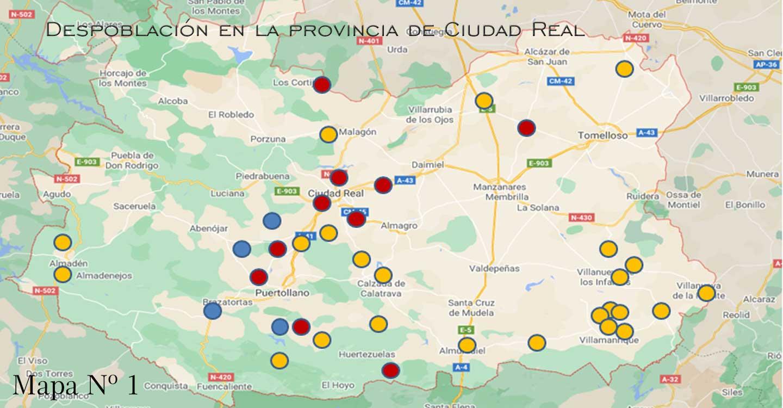 Despoblación en la provincia de Ciudad Real