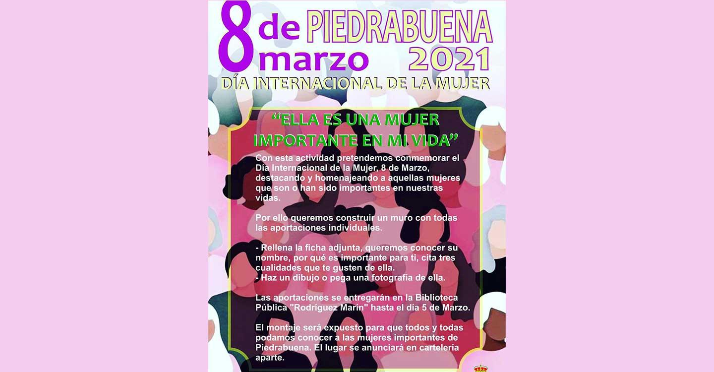 El Ayuntamiento de Piedrabuena construirá un mural con dibujos, fotografías y los nombres de las mujeres importantes para los piedrabueneros