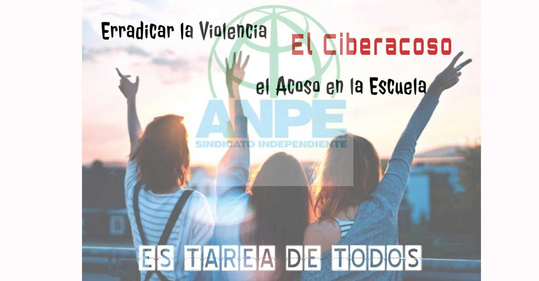 En el Día Internacional contra la Violencia y el Acoso en la Escuela, ANPE reitera su compromiso con la comunidad educativa para erradicar esta lacra de nuestra sociedad.