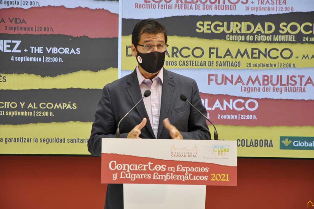 La Diputación de Ciudad Real promociona los espacios y lugares emblemáticos y compensa al mundo de la cultura con la celebración de 12 conciertos