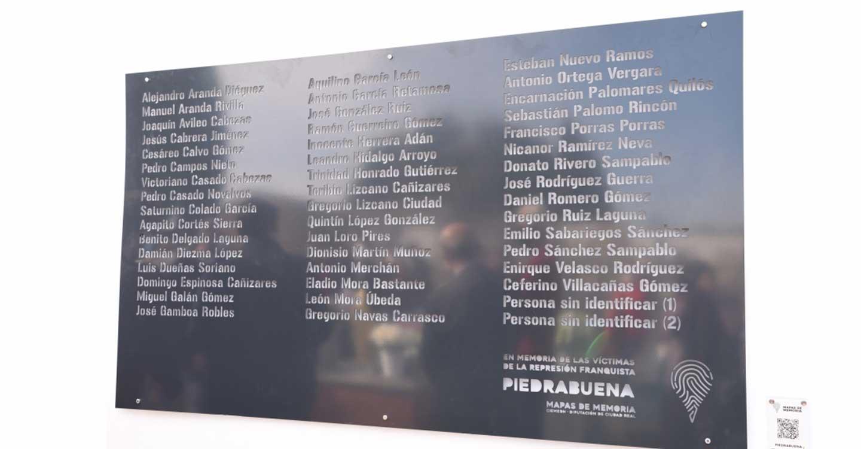 La Diputación inicia en Piedrabuena la señalización de las 53 fosas que albergan a 3.453 represaliados por el franquismo en la provincia