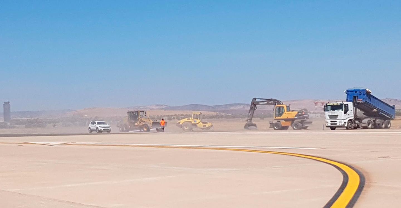 Diversas obras de mejora y adecuación de accesos y pistas mantienen una frenética actividad en el aeropuerto de Ciudad Real