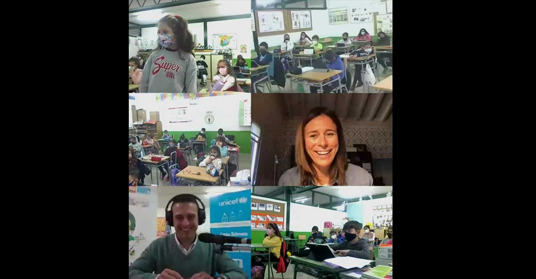 Edurne Pasaban participa en la Radio del CEIP Cervantes de Santa Cruz de Mudela