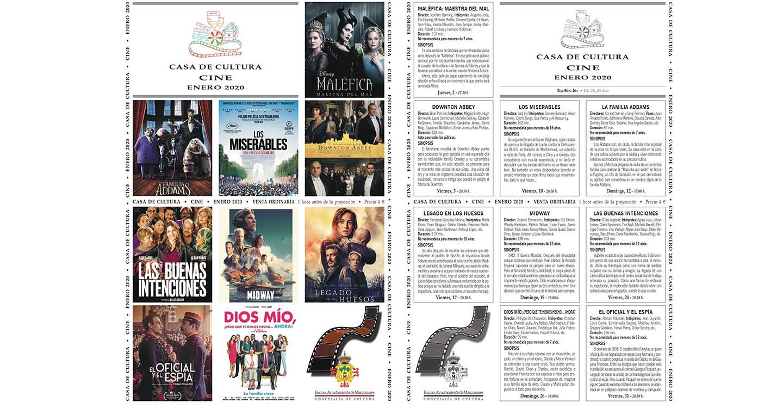 El año 2020 empieza con cine en la Casa de Cultura de Manzanares