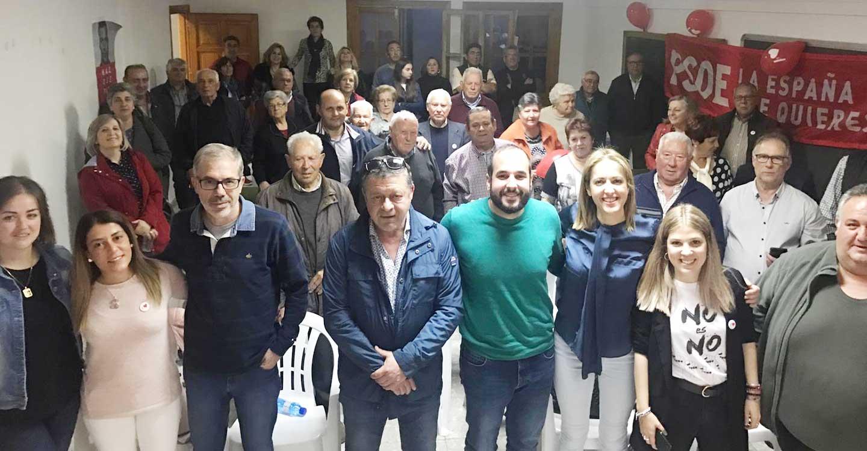 El PSOE defiende en Villamayor de Calatrava el desarrollo del mundo rural y los derechos de los vecinos y vecinas que viven en él