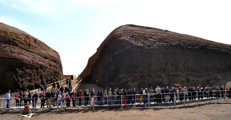 El volcán-museo Cerro Gordo de Granátula de Calatrava alcanza los 30.000 visitantes en estos 3 años de actividad
