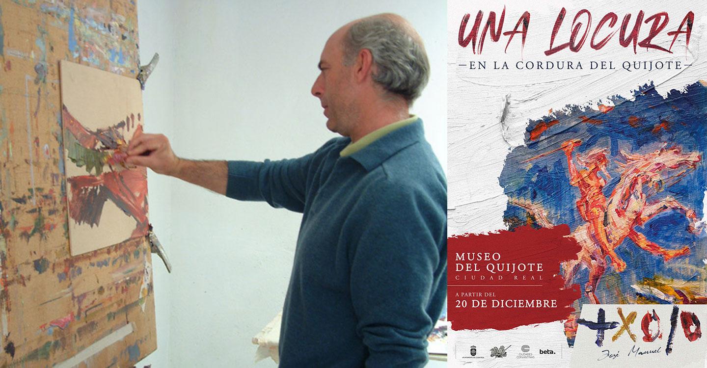 José Manuel Exojo presenta la exposición 'Una locura en la cordura del Quijote'