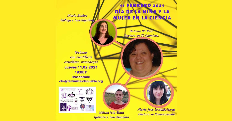 Numerosos colectivos feministas de Castilla-La Mancha se disponen a celebrar el día internacional de la Mujer y la Niña en la Ciencia en la fecha del 11 de febrero.