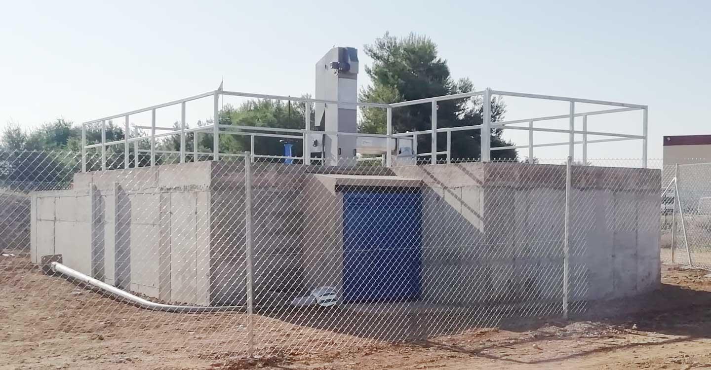 Finalizan las obras de construcción de la nueva estación de bombeo de aguas residuales de Santa Cruz de Mudela