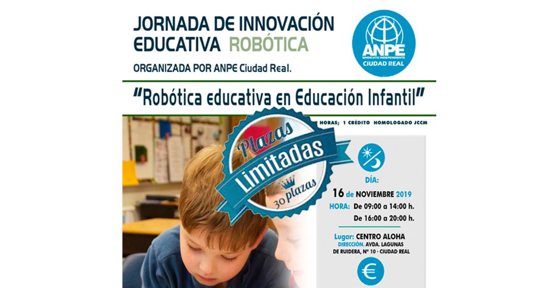 Fuerte apuesta de ANPE-Ciudad Real por la formación docente en la provincia con un curso de Robótica