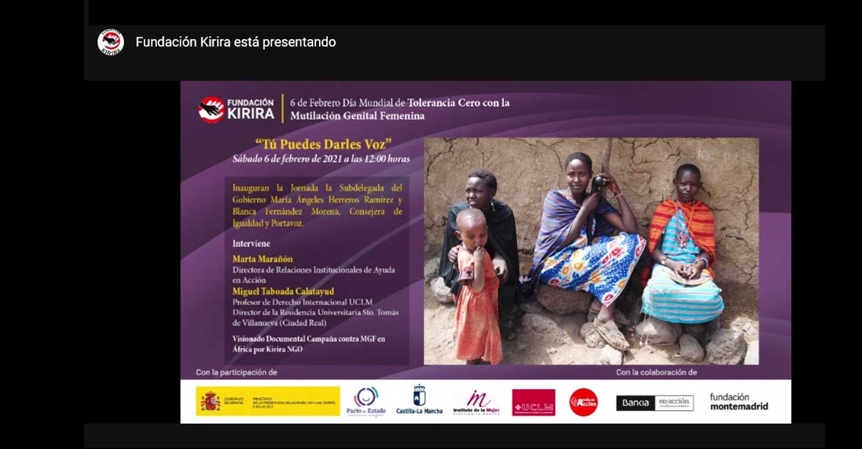 Inauguración de la jornada 'Tú puedes darles voz', de Fundación Kirira