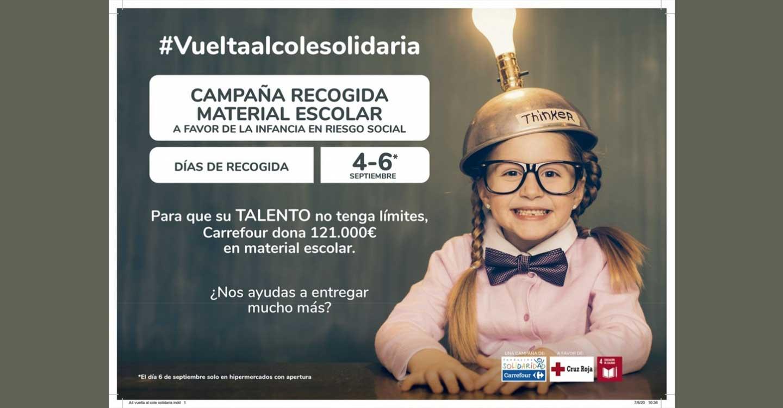 Fundación Solidaridad Carrefour y Cruz Roja ponen en marcha la 'Vuelta al Cole Solidaria' a favor de la infancia en riesgo social de Ciudad Real