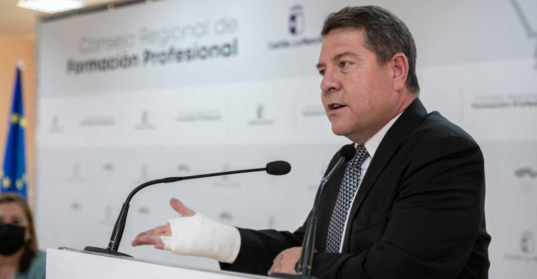 """García-Page anuncia una inversión de 61 millones de euros """"para pasar de una formación profesional estática a una mucho más dinámica"""""""