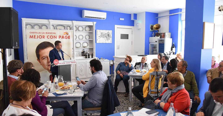 """García-Page: """"C-LM generará 10.000 empleos más vinculados a la industria turística y cultural en la próxima legislatura"""""""