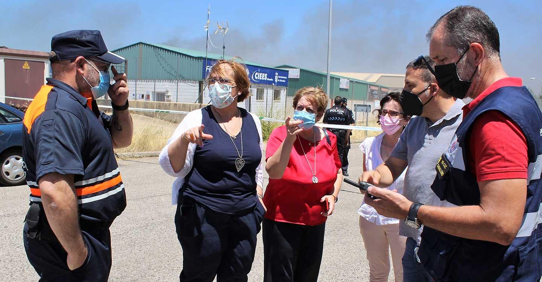 El Gobierno de Castilla-La Mancha valora el trabajo realizado por los servicios de bomberos, INFOCAM y fuerzas de seguridad en el incendio ocurrido en Almadén