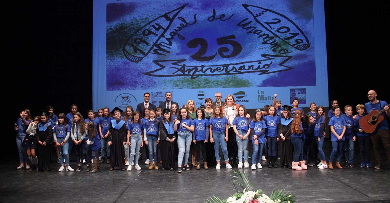 El Gobierno regional felicita al CEIP 'Miguel de Unamuno' por sus 25 años y por ser ejemplo de la buena salud del sistema educativo regional