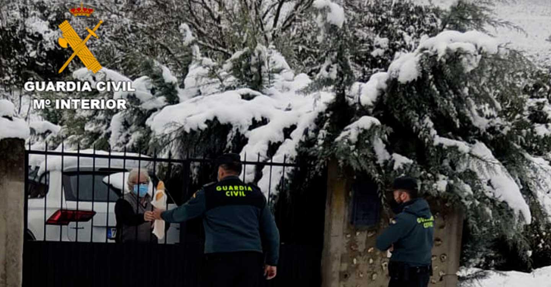 La Guardia Civil ha realizado numerosas actuaciones durante la nevada del pasado fin de semana