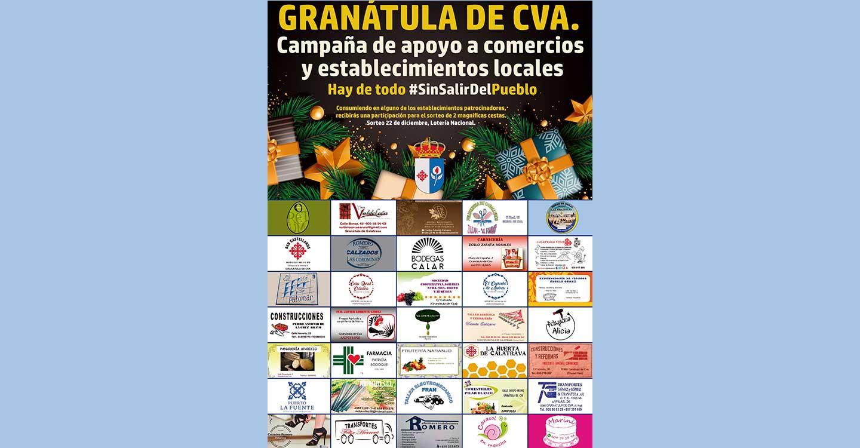 """""""Hay de todo #SinSalirDelPueblo"""", campaña de apoyo a comercios y otros establecimientos de Granátula de Calatrava"""