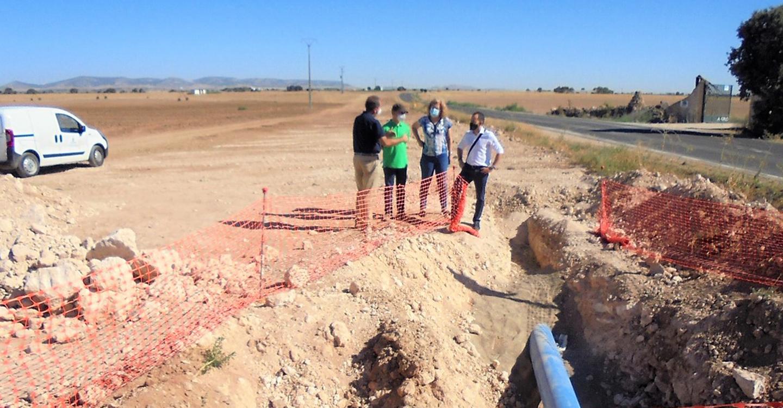 El Gobierno de Castilla-La Mancha renueva más de medio kilómetro de la conducción que abastece de agua a Herencia desde el pozo Palancas