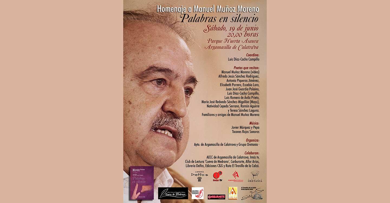 Homenaje al poeta rabanero Manuel Muñoz Moreno con el recital 'Palabras en silencio', el próximo 19 de junio en Argamasilla de Calatrava