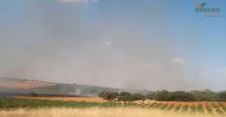 El fuego declarado en Socuéllamos ya está controlado