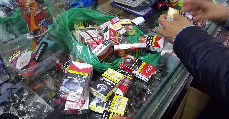 Intervenidas 120 cajetillas de tabaco puestas a la venta de forma irregular en Argamasilla de Alba