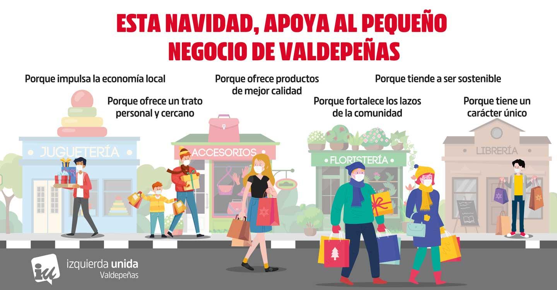 IU Valdepeñas anima a comprar en el comercio local