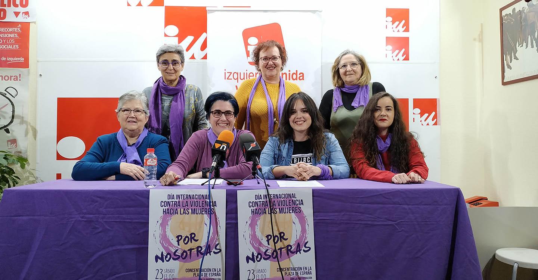 Izquierda Unida Valdepeñas se concentrará el sábado 23 de noviembre para exigir el cese de la violencia machista