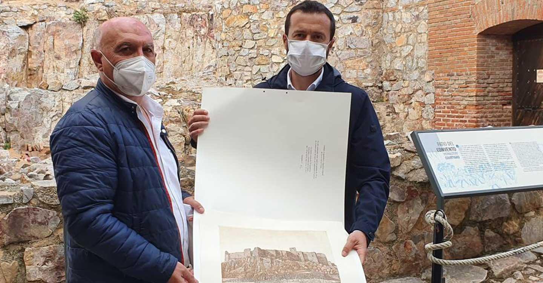 El consejero de Desarrollo Sostenible, visitó el 'Castillo de Calatrava La Nueva' y 'Los Baños del Barranco' en Aldea del Rey