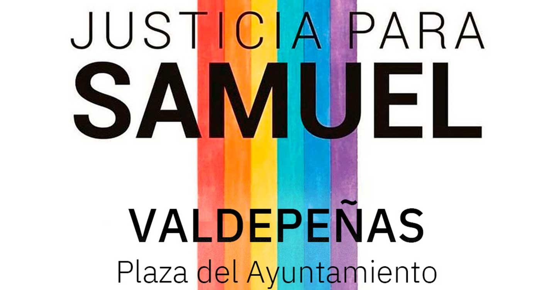 AMPARO LGTBI+ convoca una concentración en Valdepeñas por el asesinato de Samuel.