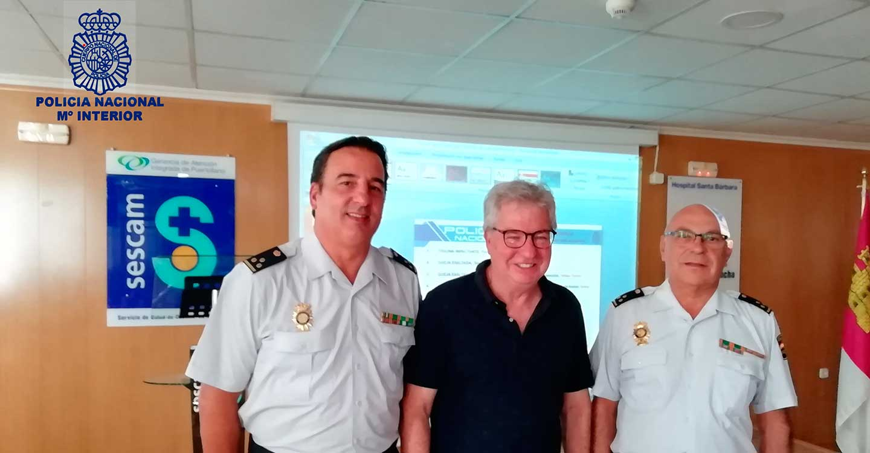 La Comisaría de Ciudad Real imparte unas charlas sobre prevención de agresiones a profesionales en el ámbito sanitario