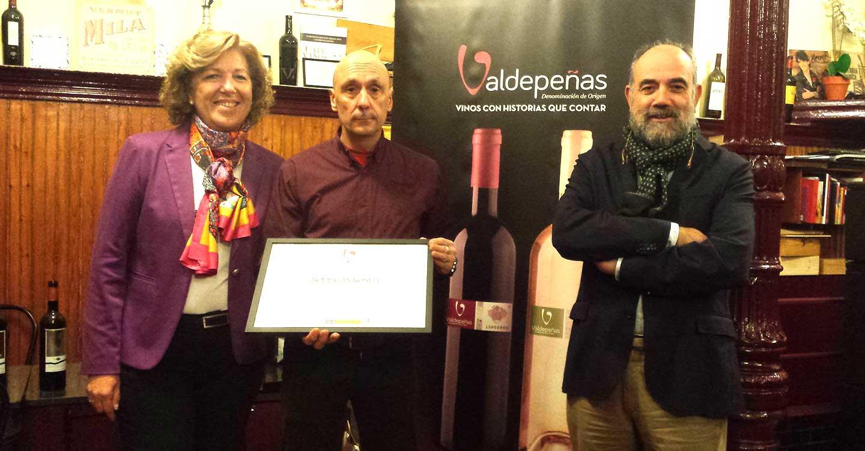 La D.O. Valdepeñas premia la trayectoria de Bodegas Rosell