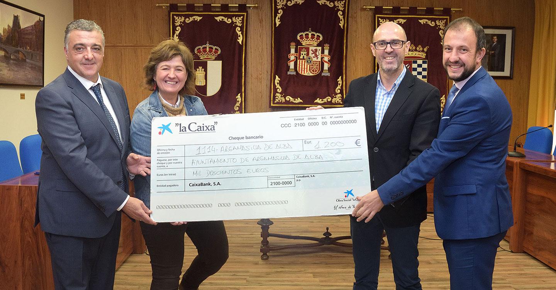 La Obra Social 'la Caixa' contribuye a la celebración de las fiestas navideñas en Argamasilla de Alba con 1.200 euros