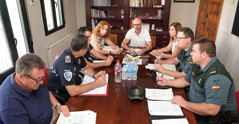 La subdelegada y el alcalde copresiden la Junta de Seguridad de la localidad