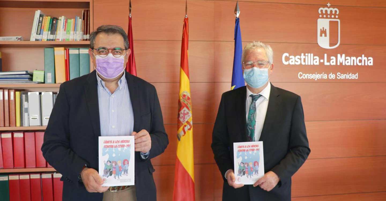 El consejero de Sanidad del Gobierno de Castilla-La Mancha felicita la iniciativa de profesionales sanitarios de concienciar sobre el COVID-19 a los más pequeños a través de un libro comic